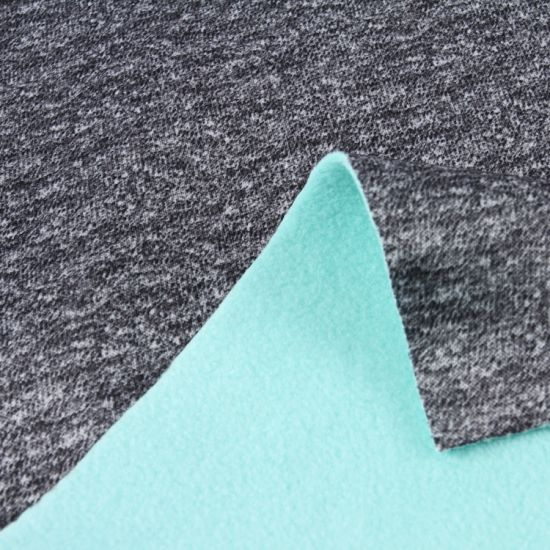 Polyester Suede Fabric Bonded with Sherpa Fabric for Coat/Suede Compound Sherpa