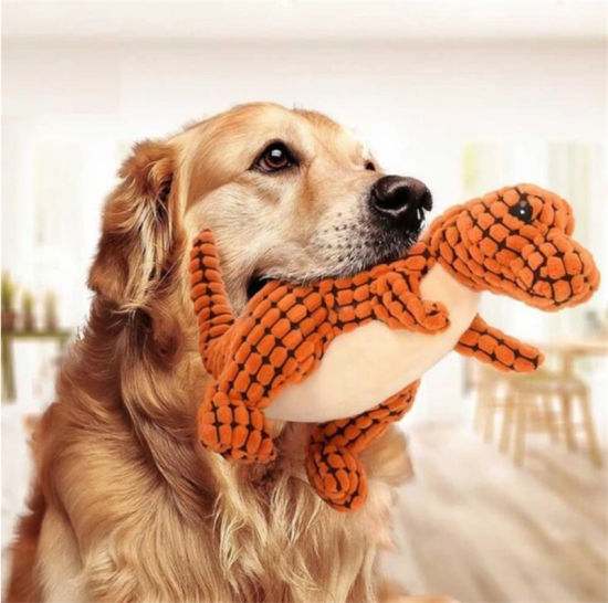 2020 Dogs Pet Chew Toys Squeaky Dinosaur Sound Pet Plush Toys