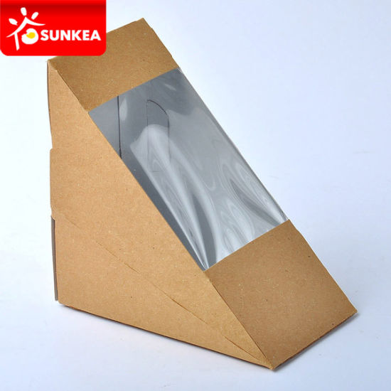 Wholesale Disposable Kraft Paper Sandwich Boxes pictures & photos