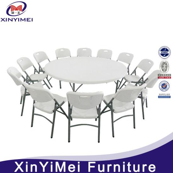 Wholesale White Plastic Folding Round Tables