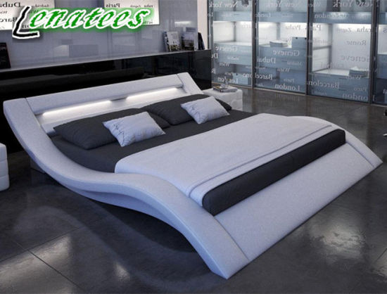 A516 Romantic Furniture Design King Size LED Bed