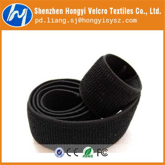 Nylon Durable Adjustable Black Elastic Loop Magic Tape
