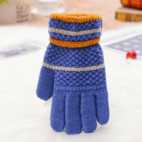 China Custom Full Finger Glove Acrylic Mittens Winter Gloves For