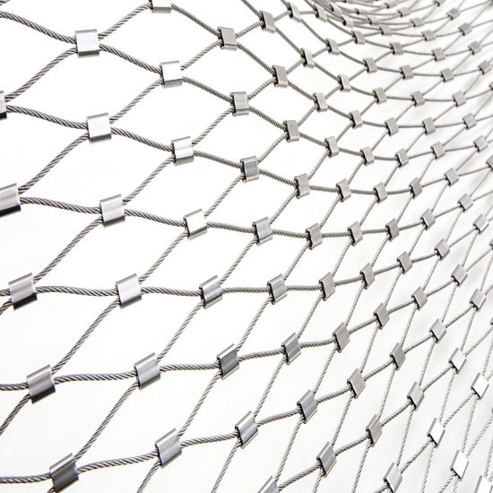 China Zoo Stainless Steel Wire Rope Mesh Fence Woven Mesh Stair ...