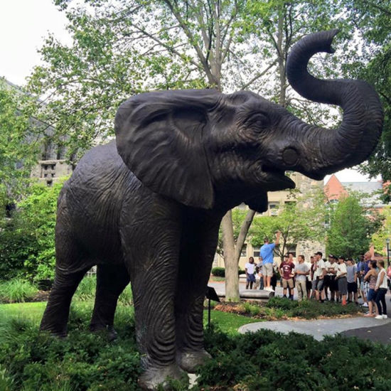 Antique Life Size Bronze Elephant Garden Statue Metal Casting Large  Wildlife Sculpture