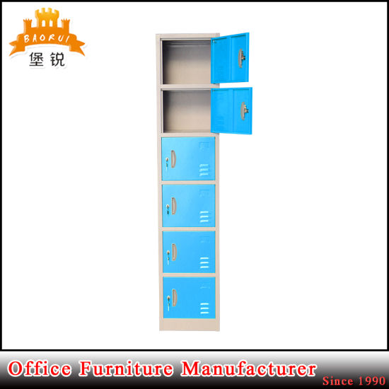 Six Layers Metal Vertical 6 Doors Locker pictures & photos