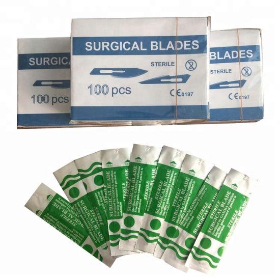 Medical Disposable Carbon Steel Sterile Surgical Blade Knife for Hospital