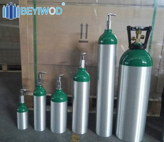 4 55L 10L DOT3al Small Aluminum Portable Medical Oxygen Gas Cylinder
