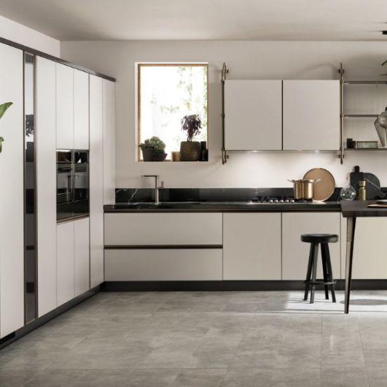 2018 New Modern Glossy Wood Kitchen Cabinet Furniture (Kit-05)