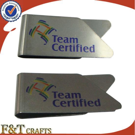 Hot Selling Cheap Bulk Custom Printing Flat Metal Paper Clip