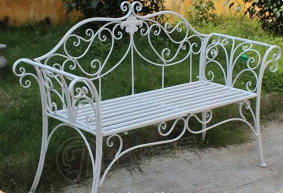 Wrought Iron Garden Bench for Outdoor Furniture
