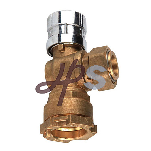 China Brass Magnetic Lockable Valve for Water Meter pictures & photos