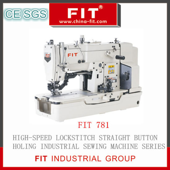High Speed Lockstitch Straight Button Hole Sewing Machine (FIT781)