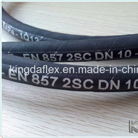 High Pressure DIN En 857 1sc Rubber Hydraulic Hose