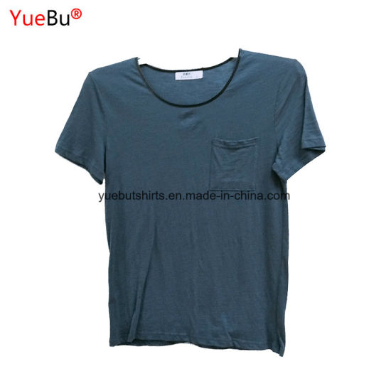 Custom Solid Color Plain 100% Cotton Fabric Sports Tshirt pictures & photos