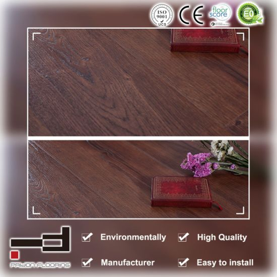 China 12mm Ash Eir Finish Surface Water Proof Hdf U Groove Living