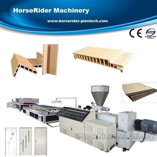 PVC WPC Hollow Door Board Frame Extrusion Production Line Machine