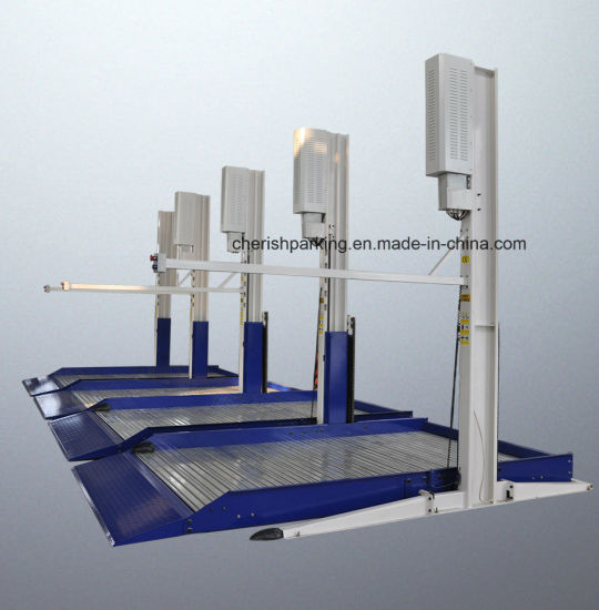 Two Level Two Layer Two Floor Two Columns 2 Legs Car Parking Lift with Ce Certificate
