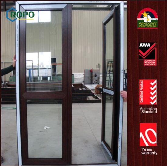 Front Double Door Designs Wooden Color Safety Glazing Door  sc 1 st  Fuzhou ROPO Building Materials Co. Ltd. & China Front Double Door Designs Wooden Color Safety Glazing Door ...