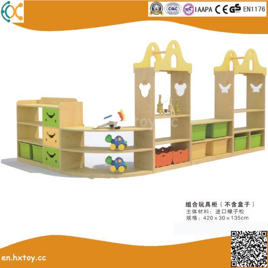 Kindergarten Kids Wooden Toy Shelf