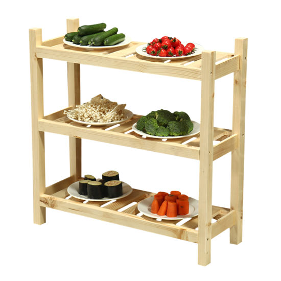 Solid Wooden Rack for Restaurant and Pub Wooden Shelf for Wholesales