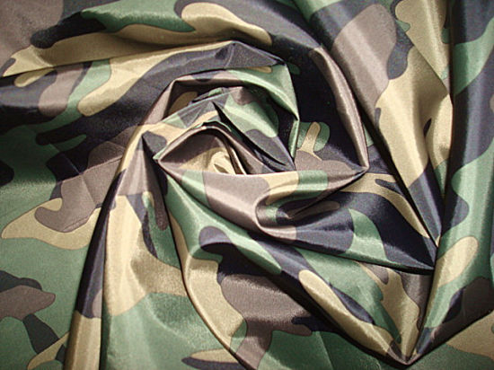 New Print Camo Woven Fabric for Rain Coat Cloak pictures & photos