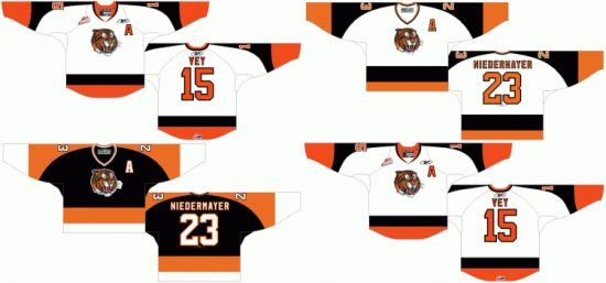 Customized Western Hockey League Medicine Hat Tigers Hockey Jersey pictures & photos