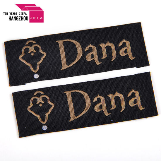 Customized Washable in-Mould 2cm *6cm Satin Clothing Main Woven Label Garment Tags