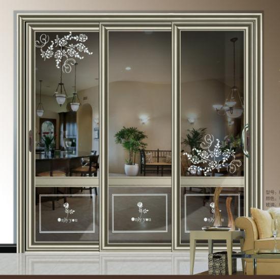 China Aluminum Glass Sliding Glass Door For Balcony China Aluminum