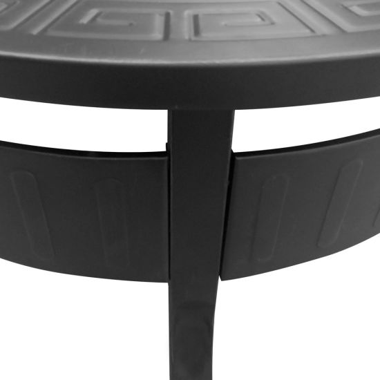 Outdoor Fire Pit Table BBQ Grill Fireplace Round with Cover Black (SP-FT034) pictures & photos