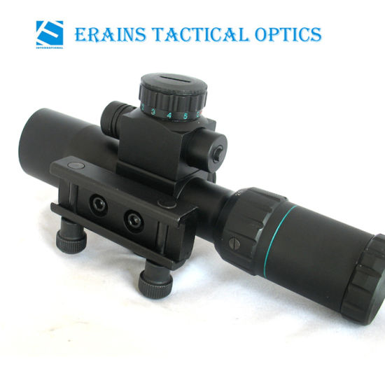 Compact 2.5-10X32 Rifle Scope Red Green Mil-DOT Reticle with Side Attached Red Laser Sight Combo (FDA certified) pictures & photos