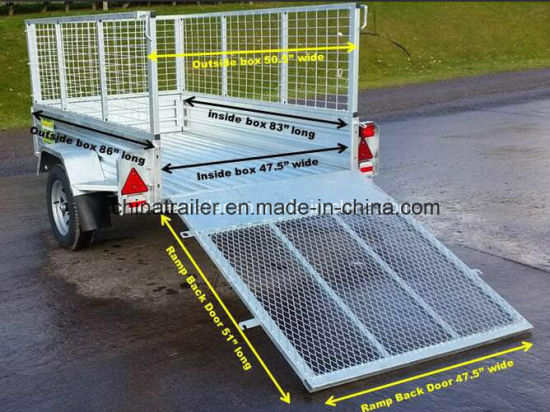 6X4 7X4 7X5 8X5 8X4 Hot Dipped Galvanized Box Trailer pictures & photos