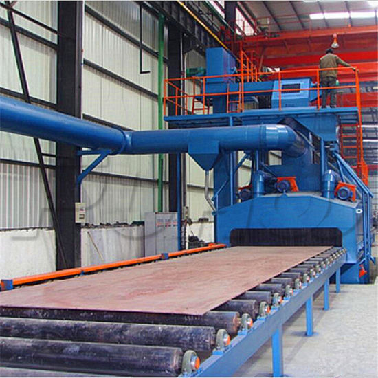 Roller Conveyor Type Steel Plate Shot Blasting Machine Price pictures & photos