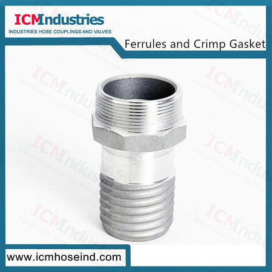 Stainless Steel Composite Hose Connectors Male End
