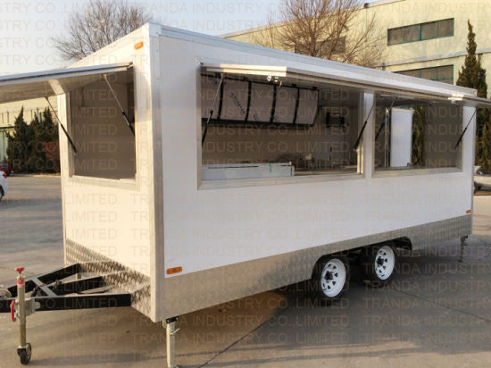 China Mobile Ce Cream Trailers with Kitchen Equipment Smokeless BBQ ...