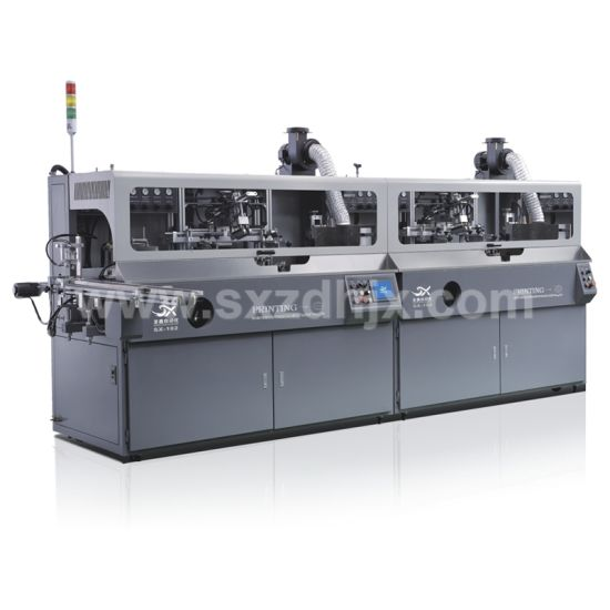 Automatic Lubricating Oil Plastic Bottle Silk Screen Printing Machine for Color Label