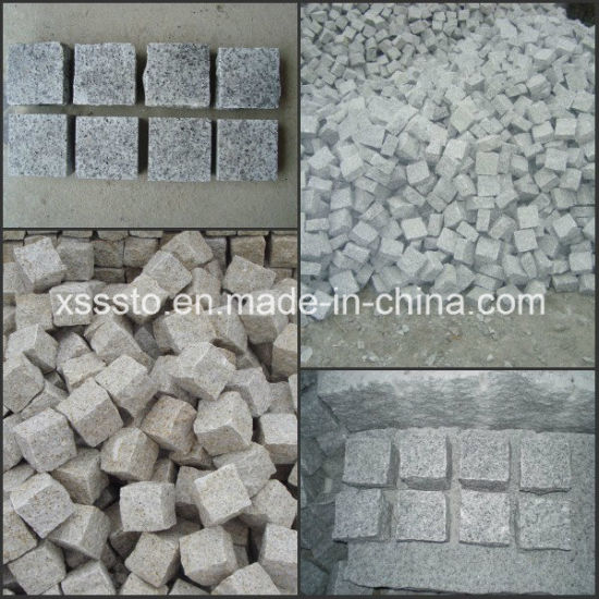 Grey Yellow Black Red Granite Cube Stone Paving Stone pictures & photos