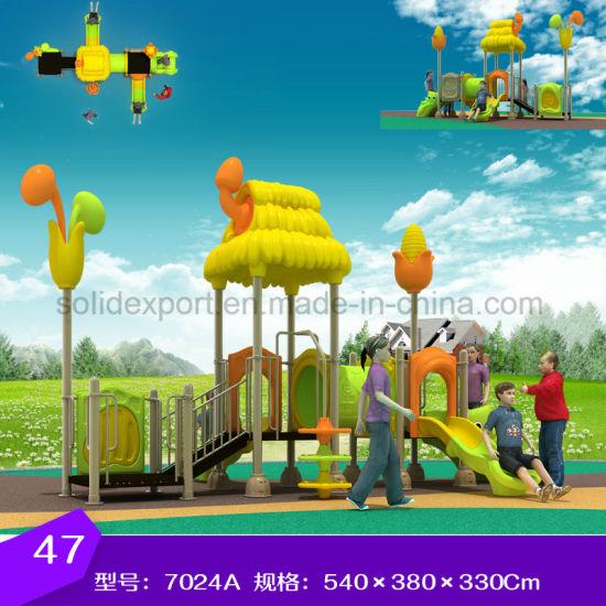 china kindergarten game time kids play zone plastic playground slide