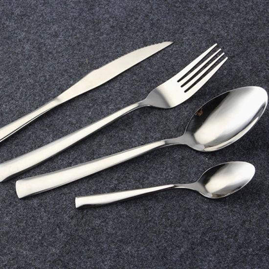 Stainless Steel Western Dinner Knife Fork Tablespoon Cutlery Set