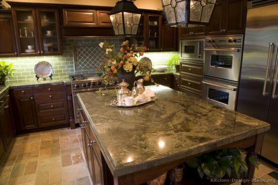 Kitchen Furniture Dark Walnut Color Kitchen Cabinets (dw2)