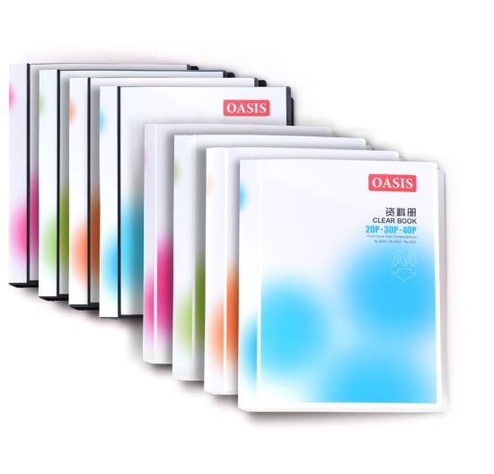 Oasis 30 Pages Clear Book with Colorful Paper Cover
