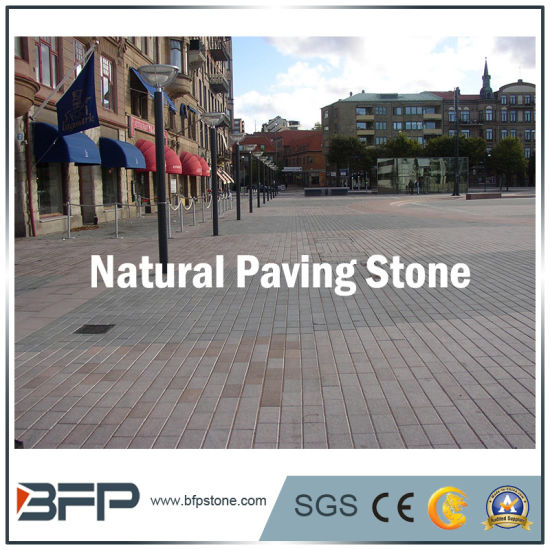 Natural Grey / Red / Yellow Granite Cobble Paving Stone for Garden Landscape Pavers pictures & photos