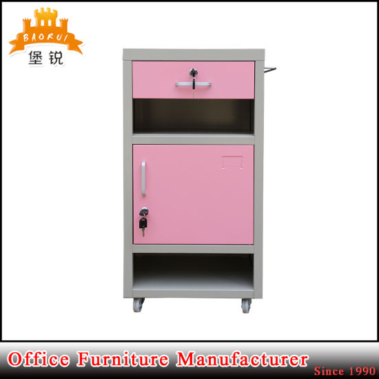 Bedroom Hospital Nightstand Bedside Table Mobile Metal Cabinet pictures & photos