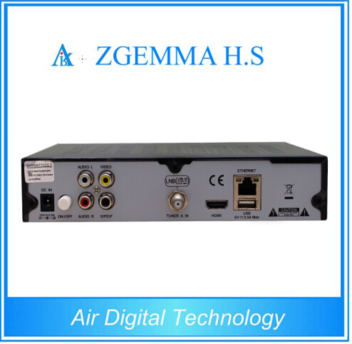 HD Full 1080P Zgemma H. S Single Tuner DVB-S2 Satellite TV Receiver Webtv Internet TV Set Top Box pictures & photos