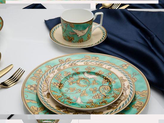 Elegant Green 6 Pieces Afternoon Tea Dinnerware Sets & China Elegant Green 6 Pieces Afternoon Tea Dinnerware Sets - Bone ...