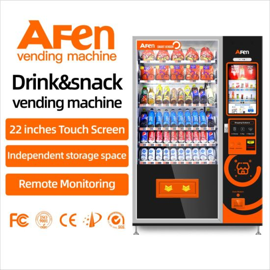 Afen Self-Service Automatic Coin Operated Drink Snack Vending Machine