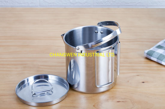 Stainless Steel Camping Outdoor Soup Pot Cup Soup Pot