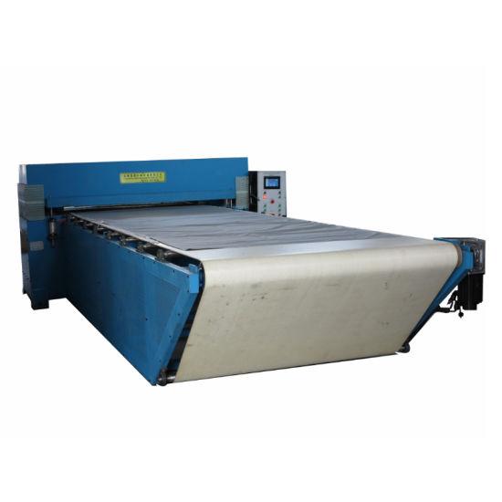Military Canvas 200t Automatic Circulating Belt Drive Fabric Cutting Machine