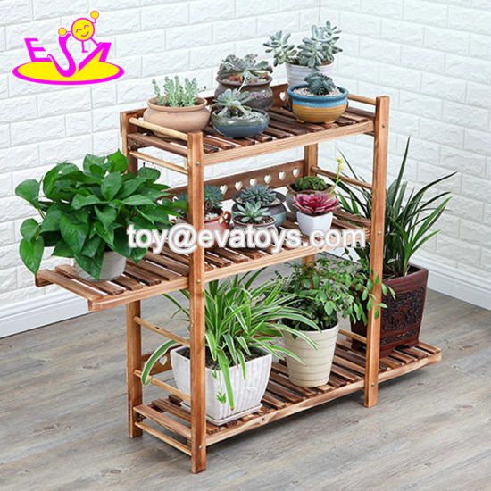 3 Tier Brown Wooden Plant Stand