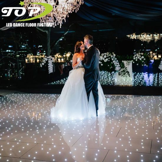 20FT X 20FT White LED Starlit Dance Floor with Backdrop for Wedding Stage Decoration